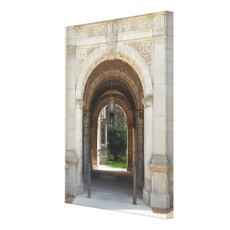 Archway To Courtyard Canvas Print