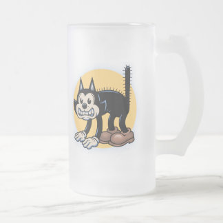 Archy Cat 16 Oz Frosted Glass Beer Mug