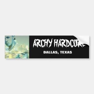 ARCHY HARDCORE BUMPER STICKER