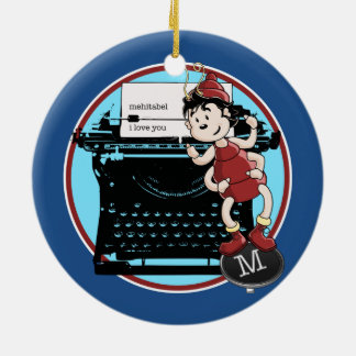 Archy Loves Mehitabel Double-Sided Ceramic Round Christmas Ornament
