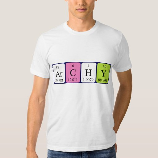 Archy periodic table name shirt