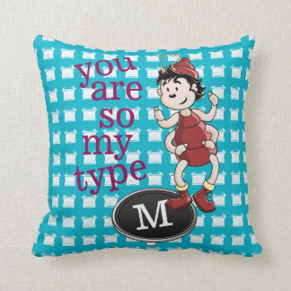 Archy, So My Type Throw Pillow
