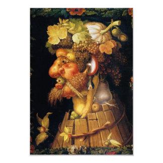 "Arcimboldo Autumn Invitations 3.5"" X 5"" Invitation Card"