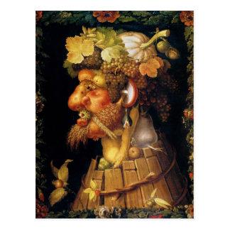 Arcimboldo Autumn Postcard