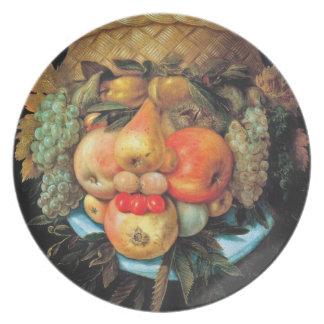 Arcimboldo Fruit Basket - 16th century Plate