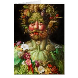 Arcimboldo Rudolf II Greeting Card