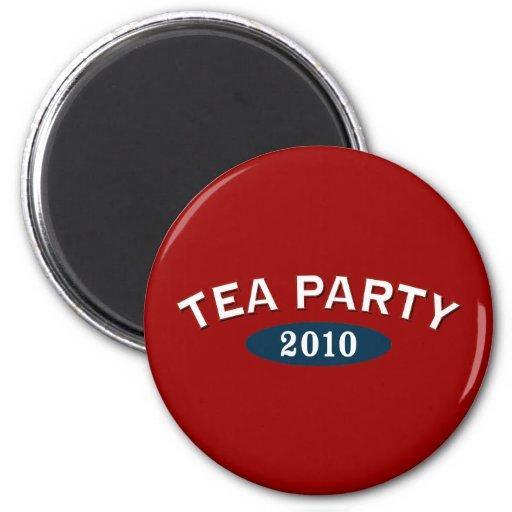 Arco 2010 de la fiesta del té imán redondo 5 cm