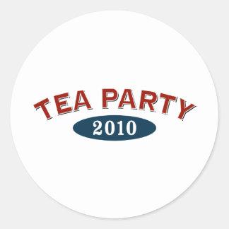Arco 2010 de la fiesta del té pegatina redonda