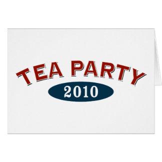 Arco 2010 de la fiesta del té tarjeta de felicitación