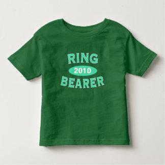 Arco 2010 de la verde menta del portador de anillo playera de niño
