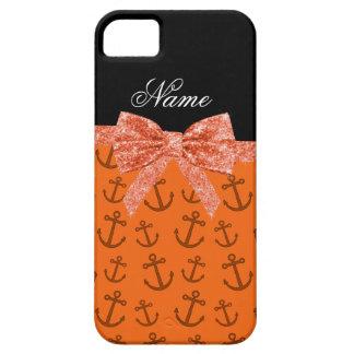 Arco anaranjado conocido personalizado del brillo iPhone 5 coberturas