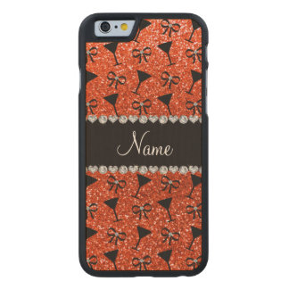 Arco anaranjado de neón conocido del vidrio de funda de iPhone 6 carved® slim de arce