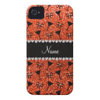 arco anaranjado de neón conocido del vidrio de Case-Mate iPhone 4 fundas