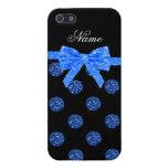 Arco azul conocido de encargo de los lunares del b iPhone 5 carcasa