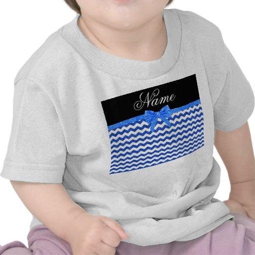 Arco azul conocido personalizado de los galones camiseta