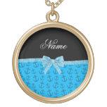 Arco azul conocido personalizado del brillo de las pendientes