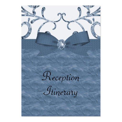 Arco azul de los remolinos del pastel y del diaman tarjetas de visita
