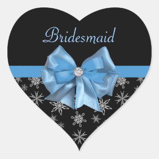 Arco azul helado en casarse negro de los copos de