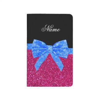 Arco azul personalizado del brillo de neón conocid cuadernos