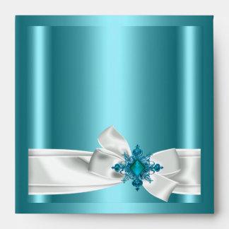 Arco blanco de la plata azul del trullo del sobre