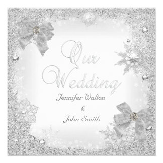 Arco blanco del boda de la plata elegante del bril comunicados personalizados