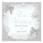 Arco blanco del boda de la plata elegante del comunicados personalizados