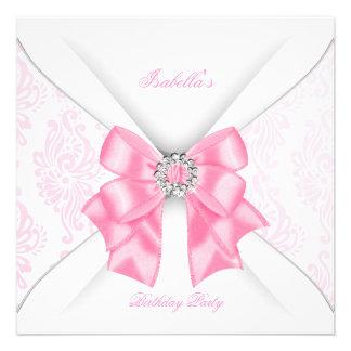 Arco blanco rosado bonito del diamante de la fiest invitaciones personales