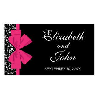 Arco blanco y negro del rosa de rosas tarjetas de visita