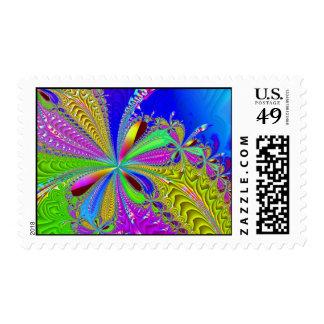 Arco colorido del fiesta - fractal - sello