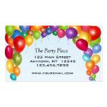 Arco colorido del globo plantillas de tarjetas de visita