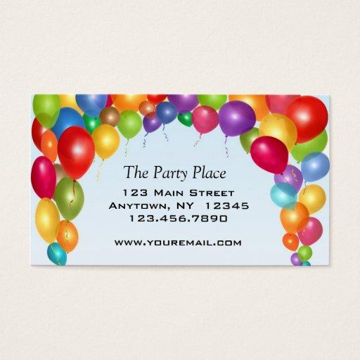 Arco colorido del globo tarjetas de visita