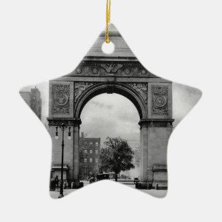 Arco cuadrado de Washington Adorno Navideño De Cerámica En Forma De Estrella