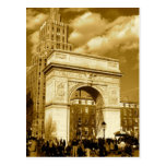 Arco cuadrado de Washington Tarjetas Postales