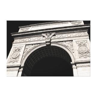 Arco cuadrado del parque de Washington, NYC Lona Envuelta Para Galerías