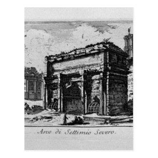 Arco de Constantina en Roma de Juan Battista Tarjeta Postal