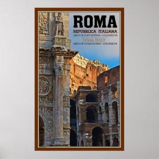 Arco de Constantina y del Colosseum Poster