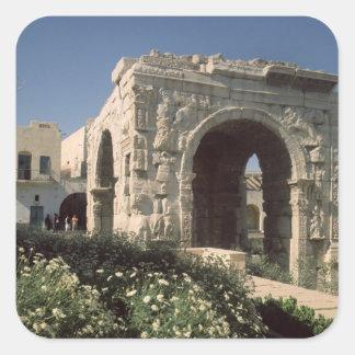 Arco de cuatro terminales de Marco Aurelius y de Pegatina Cuadrada