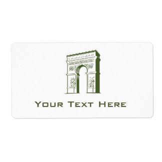 Arco de Europa del viaje Etiqueta De Envío