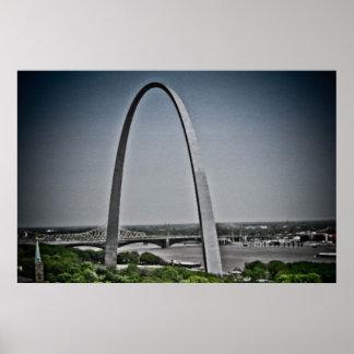 Arco de la entrada de St. Louis Poster