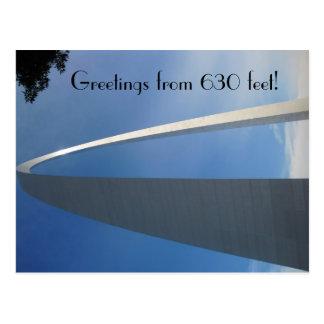 Arco de la entrada de St. Louis Tarjeta Postal