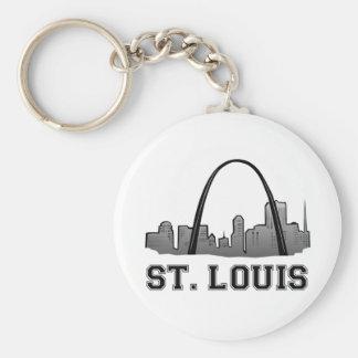 Arco de la entrada en St. Louis Llavero Redondo Tipo Pin