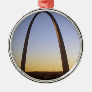 Arco de la entrada, St. Louis, MES Adorno Redondo Plateado