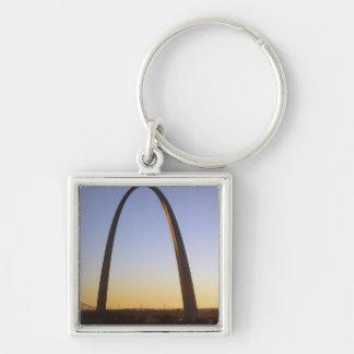 Arco de la entrada, St. Louis, MES Llavero Cuadrado Plateado