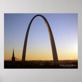 Arco de la entrada, St. Louis, MES Poster