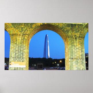 Arco de la entrada - St. Louis, Missouri Poster