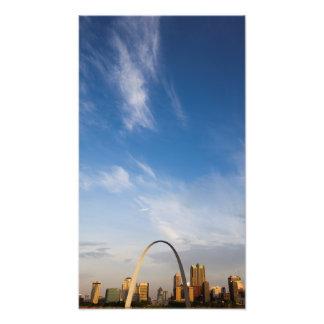 Arco de la entrada y St. Louis céntrico Fotografía