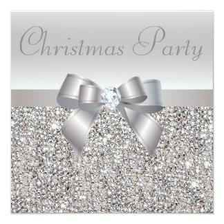 Arco de la fiesta de Navidad de las lentejuelas y Invitación