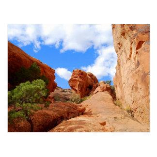 Arco de la pared, arcos parque nacional, Utah, Postal