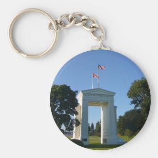 Arco de la paz - frontera de Washington-A C Llavero Personalizado