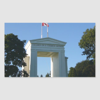 Arco de la paz - frontera de Washington-A.C. Rectangular Altavoz